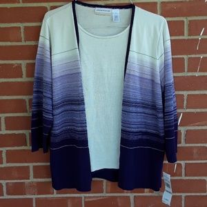 NEW Alfred Dunner purple ombre sweater size 1X